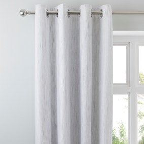 Jasper Grey Thermal Eyelet Curtains