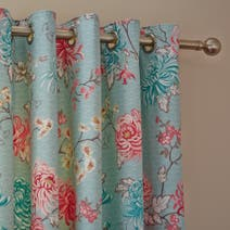 Kyoto Duck Egg Thermal Eyelet Curtains