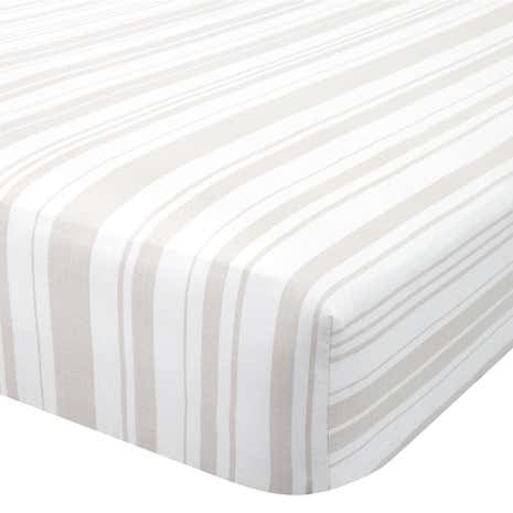 Laura Natural 28cm Fitted Sheet