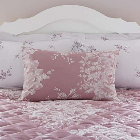 Laura Mauve Jacquard Housewife Pillowcase