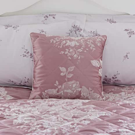 Laura Mauve Jacquard Square Cushion