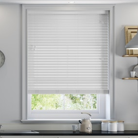 50mm Glacier Grey Faux Wood Venetian Blind