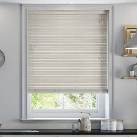50mm Limed White Faux Wood Venetian Blind