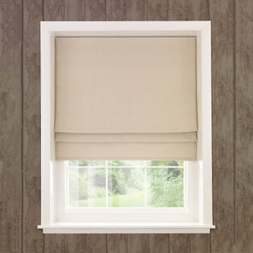 Natural Brushed Woven Lined Roman Blind