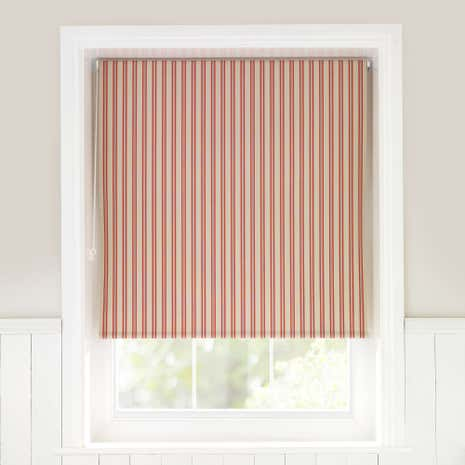 Country Stripe Red Daylight Roller Blind