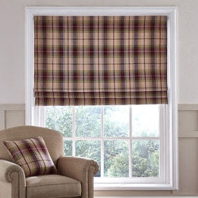 Dorma Bloomsbury Plum Check Roman Blind