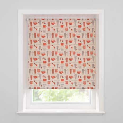 Elba Cups Red Daylight Cordless Roller Blind