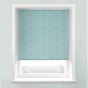 Elba Orbit Teal Daylight Cordless Roller Blind