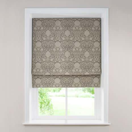 kensington silver roman blind dunelm. Black Bedroom Furniture Sets. Home Design Ideas