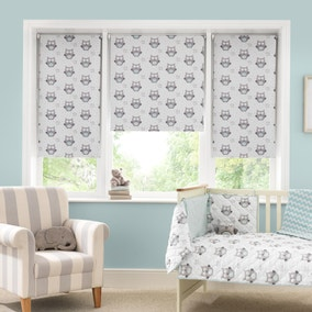 Little Owls Blackout Cordless Roller Blind