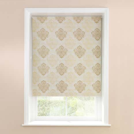 Metallic Damask Blackout Roller Blind