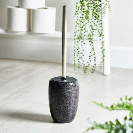 Sparkle Black Resin Toilet Brush