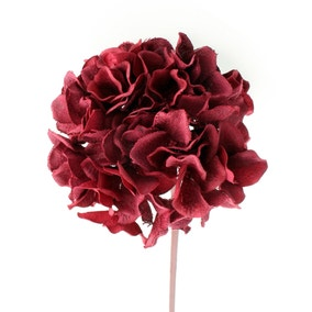Artificial Red Barege Hydrangea Stem