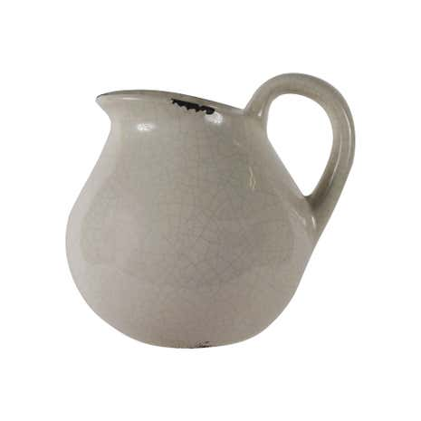 Ceramic Crackle Glaze Jug Cream