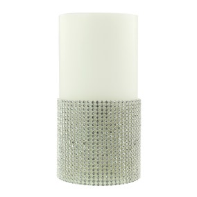White Diamante LED Candle