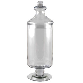 DormaTall Glass Clear BonBon Jar