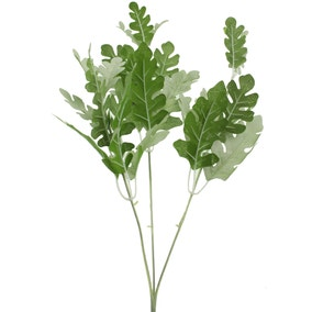 Artificial Green Dusty Miller Stem