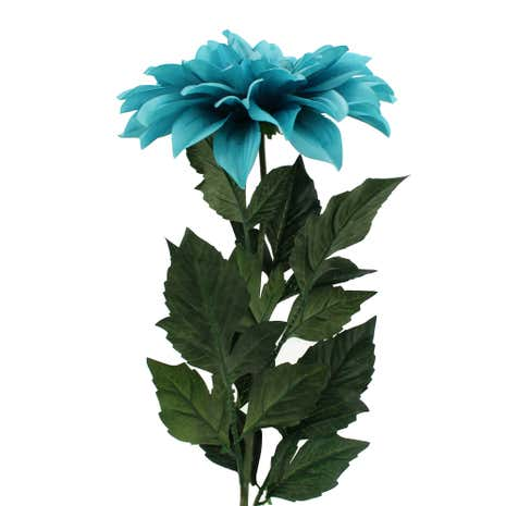 Artificial Teal Giant Dahlia