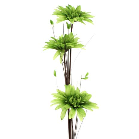 Artificial Green Daisy Lustre