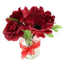 Poppy Glass Red Floral Arrangement