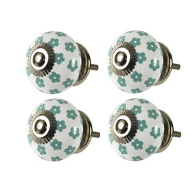 Ceramic Ditsy Print Door Knobs