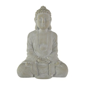 Cream Sitting Buddha Ornament