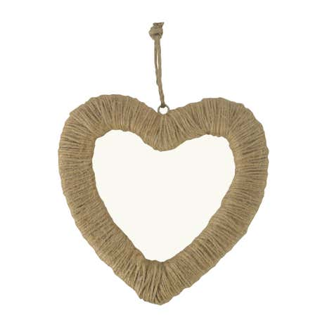 Twine Wrapped Hanging Heart