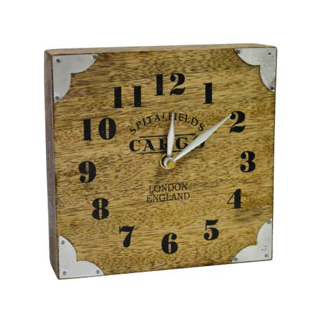 Wooden Cargo Mantel Clock