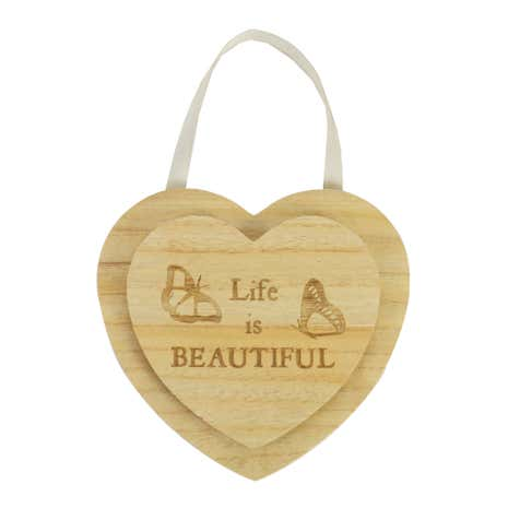 Wooden Hanging Heart