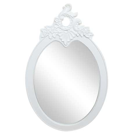 Toulouse White Wall Oval Mirror