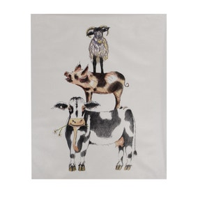 Stacking Animals Canvas