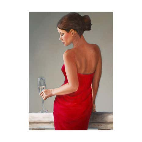 Lady in Red Printed Canvas