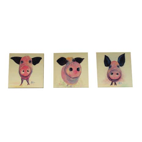 Set of 3 Pigs by Shirley MacArthur