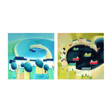 Set of 2 Clare Henley Harbour Canvas