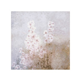 Abstract Floral Foil Canvas