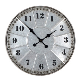 Studded Metal Wall Clock