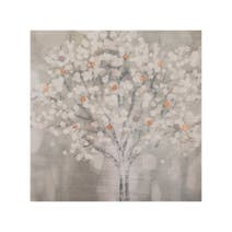 Tree Foil Embellished Canvas