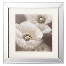 Set of 2 Floral Glitter Framed Prints