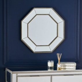 Dorma Beaded Edge Octagonal Mirror