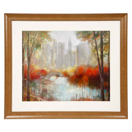 Central Park Red Trees Framed Print