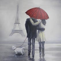 Couple with Umbrella by Bree Merryn
