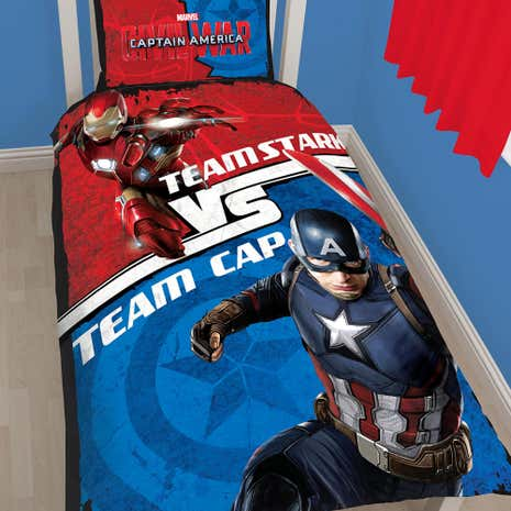 Marvel Captain America vs Tony Stark Single Duvet Set