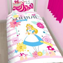 Disney Alice In Wonderland Single Duvet Set