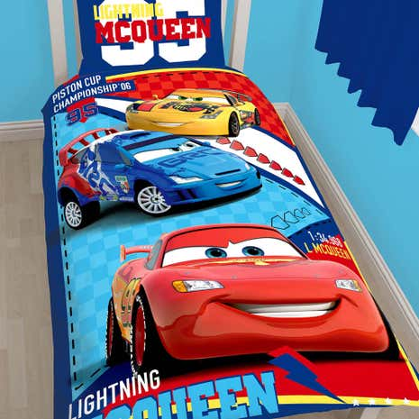 Disney Cars Lightning McQueen Single Duvet Set