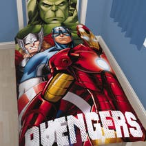 Marvel Avengers Heros Single Duvet Set