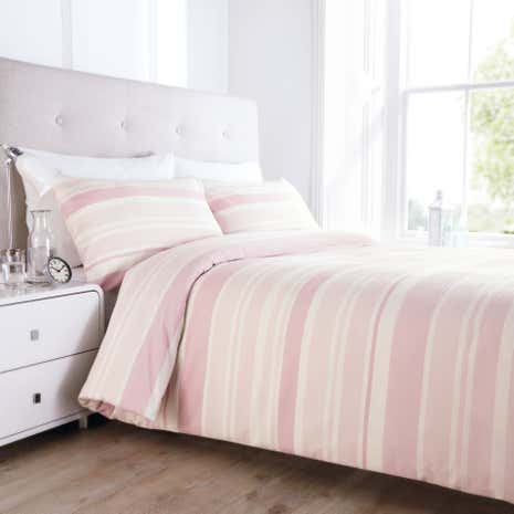Seersucker Heather Stripe Duvet Cover and Pillowcase Set