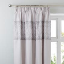 Claudia Grey Pencil Pleat Curtains