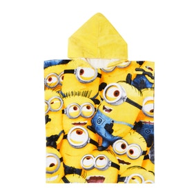Sea of Minions Hooded Poncho Towel