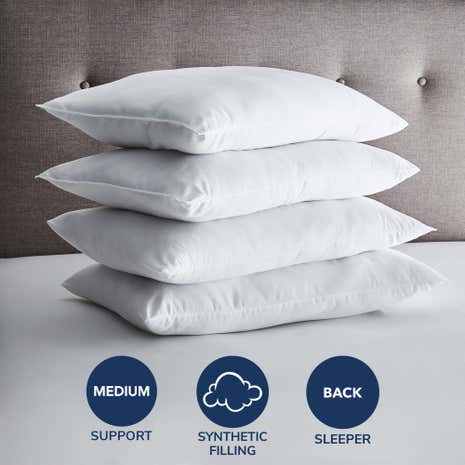 Fogarty Value Pack of 4 Medium-Support Pillows