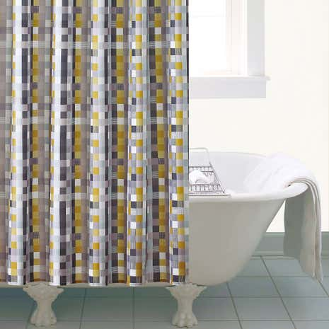 Elements Ochre Shower Curtain
